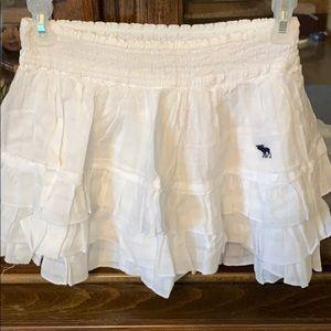 White ruffle skirt